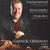 Rachmaninov: Corelli Variations, Mussorgsky: Pictures at an Exhibition, Prokofiev: Sonata No. 2