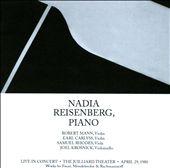 Nadia Reisenberg, Piano