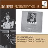 Idil Biret Archive Edition, Vol. 13: Johannes Brahms