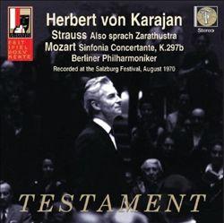 Strauss: Also sprach Zarathustra, Mozart: Sinfonia Concertante, K. 297b