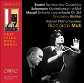 Rossini: Semiramide-Ouvertüre, Schumann: Klavierkonzert a-Moll, Mozart: Sinfonia concertante KV 364